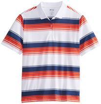 adidas Golf Boy's Pure Motion Merch Stripe Polo, White/Light