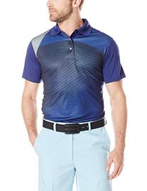 PGA TOUR Men's Golf Pro Series Geo Print Short Sleeve Polo