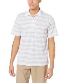 PGA TOUR Men's Performance Golf Stripe Short Sleeve Polo