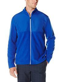 PGA TOUR Men's Golf Full Zip Long Sleeve Fleece Jacket, Surf