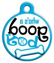 Good Boy - Custom Pet ID Tag for Dogs and Cats - Dog Tag Art