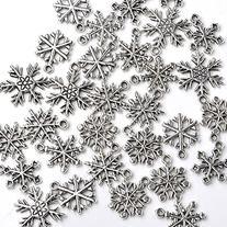 Good2deal 30x Mixed Tibetan Silver Various Snowflake Charm