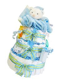 Goodnight Bear 3 Tier Diaper Cake