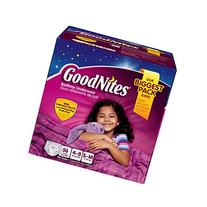 Goodnites Girls Underwear 56 Count, Small/medium