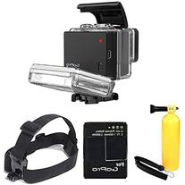 GoPro Battery BacPac for HERO3+ and HERO3  With Head Strap