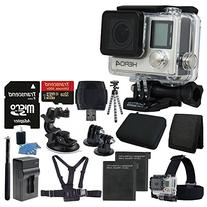 GoPro HERO4 Black Edition Camera HD Camcorder With Deluxe