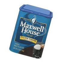 Maxwell House Gound Coffee - 10 filter packs per container,