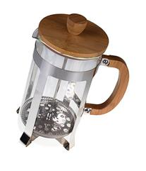 Gourmet 1 Liter Stainless Steel, Glass, and Bamboo French