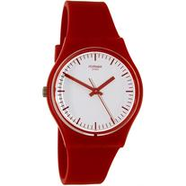 Swatch Women's Originals GR172 Red Rubber Swiss Quartz Watch