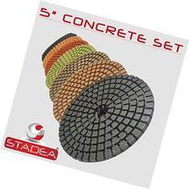 "STADEA Premium Grade Wet 5"" Diamond Polishing Pads Set For"