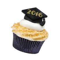12 2016 Graduation Cap Rings Cake Cupcake Toppers Party
