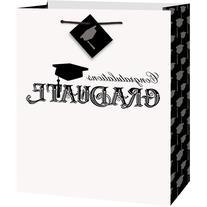 Graduation Gift Bag, Black/White