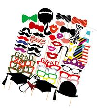 46PCS Style Graduation Party Masks Photo Booth Props
