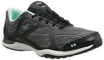 RYKA Women's Grafik Cross-Training Shoe, Black/Grey/Mint, 5