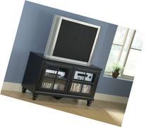 "Grand Bay 61"" TV Stand Size: 48"", Finish: Smooth Black Satin"