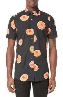 Men's Paul Smith Grapefruit Print Sport Shirt, Size X-Large