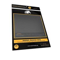 Graphite Transfer Carbon Paper - 25 Sheets  - Black Tracing