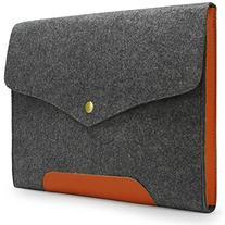 Lavievert Gray Felt Case Leather Bottom Bag Sleeve for Apple