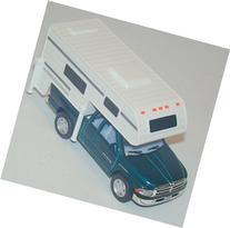GREEN 5½-inch Dodge Ram Camper 1/46 Scale Pullback Action