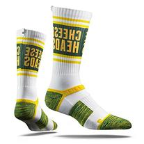 Strideline Green Bay Packers Cheese Heads Adult Crew Socks