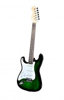 Green Electric Guitar with Amp Case and Accessories Pack