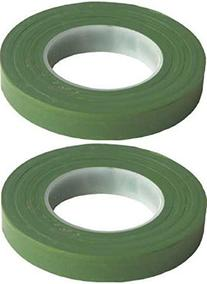 "2 Pack Green Floral Tape Stem Wrap 1/2"" X 30 Yards 180 Feet"