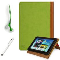 GREEN, TAN Hard Cover Portfolio Jacket Mary Case, Stand