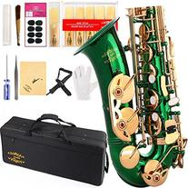 Glory Green/Gold Keys E Flat Alto Saxophone with 11reeds,8