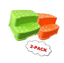 2 Jumbo Step Stool non slip kid toilet Plastic toddler stand