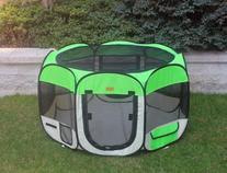 New Medium Green Pet Dog Cat Tent Playpen Exercise Play Pen