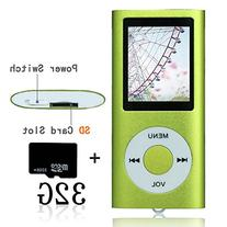 Tomameri Green Portable MP4 Player MP3 Player Video Player