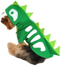 Anit Accessories 16-Inch Green Skeleton Dinosaur Dog Costume