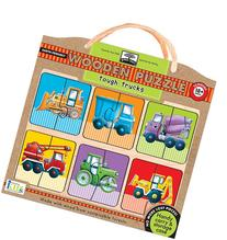 Green Start Wooden Puzzles: Tough Trucks  Puzzle