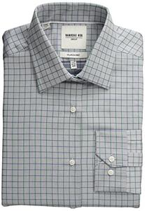 Ben Sherman Men's Slim Fit Twill Check Spread Collar Dress