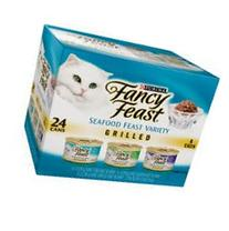 Fancy Feast Purina Grilled Seafood Feast Variety Pack, 4.5