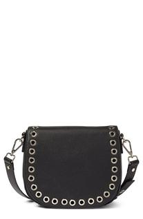 Phase 3 Grommet Faux Leather Saddle Bag