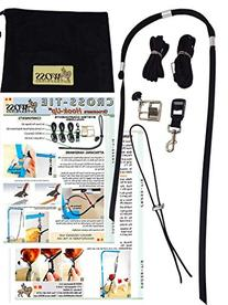 """WOSS Groomers Hook-Up 3/4"""" Cross Tie System, Made in the USA"""