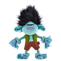 Trolls Grumpy Branch Plush with Rope Dog Toy, Large