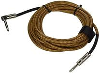 Hosa GTR-518R Straight to Right-Angle Tweed Guitar Cable, 18