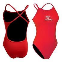 Adoretex women's Guard Cross Back Swimsuit - FGP07 - Red -