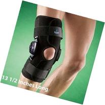 Guardian Adjustable Hinged Knee Brace with Straps, Supports