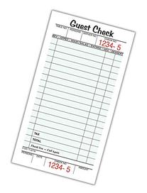 Adams Guest Check Pads, Single Part, Perforated Guest