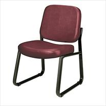 Sled-Base Armless Guest & Reception Chair w Vinyl Seat &