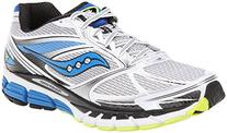 Saucony Men's Guide 8 Running Shoe,White/Blue/Citron,10.5 M