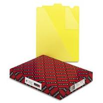 -- Out Guides w/Diagonal-Cut Pockets, Poly, Letter, Yellow,