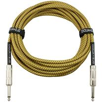 GLS Audio 20 Foot Guitar Instrument Cable - 1/4 Inch TS to 1
