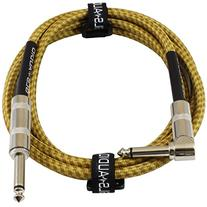 GLS Audio 6 Foot Guitar Instrument Cable - Right Angle 1/4-