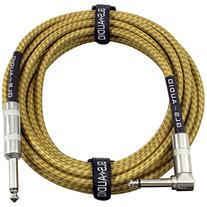 GLS Audio 20 Foot Guitar Instrument Cable - Right Angle 1/4