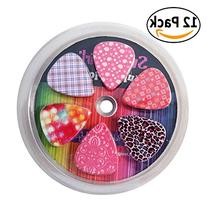 Guitar Picks for Girls - Medium Celluloid Assorted Variety