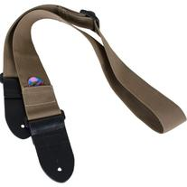 Protec Guitar Strap featuring Thick Leather Ends and Pick